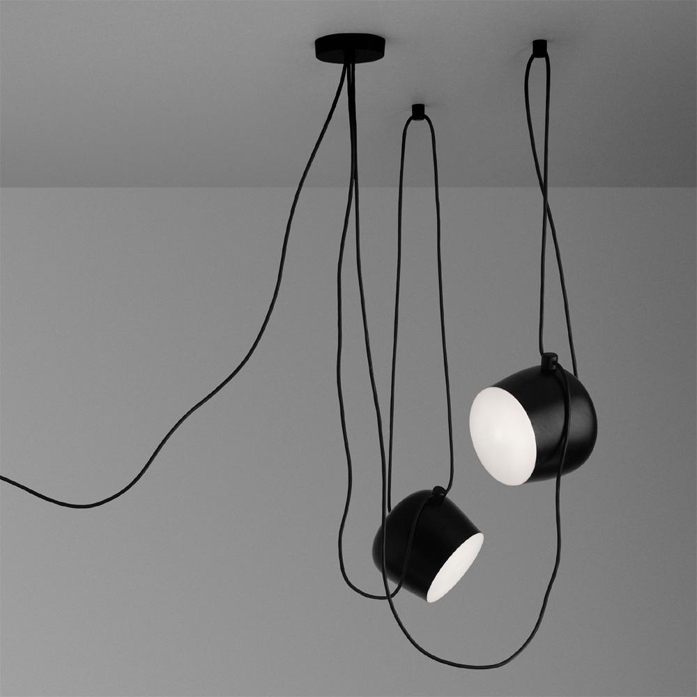 flos aim deckenleuchte schwarz pendelleuchte ronan erwan. Black Bedroom Furniture Sets. Home Design Ideas
