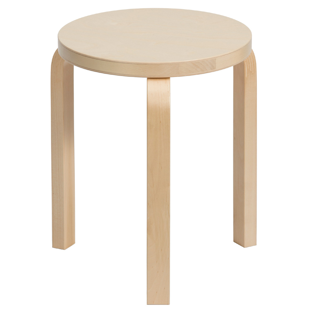 artek stool 60 hocker alvar aalto 3 beine birke natur holzhocker design. Black Bedroom Furniture Sets. Home Design Ideas