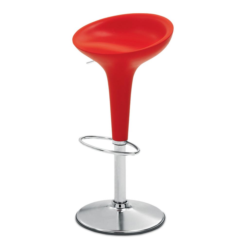 Magis bombo stool barhocker rot stefano giovannoni for Barhocker in rot