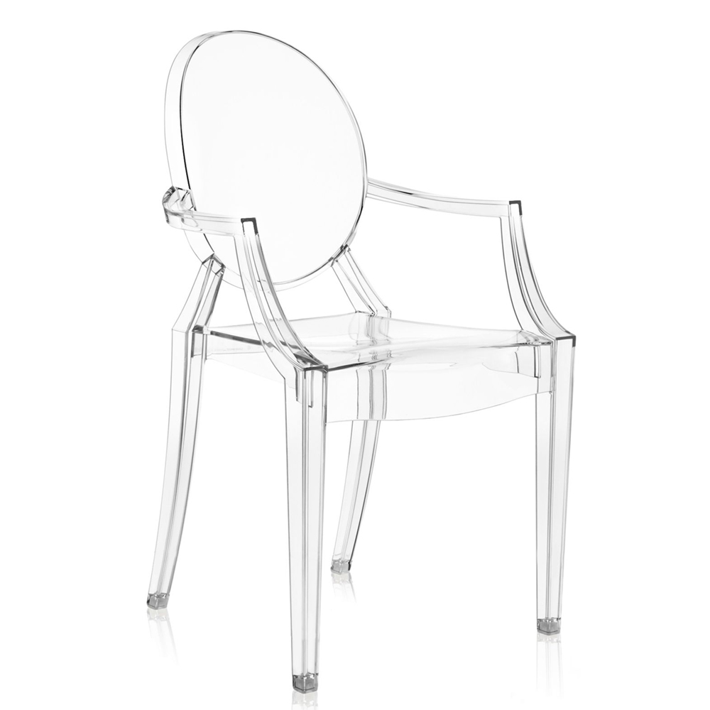 Kartell louis ghost glasklar stuhl transparent philippe starck - Transparenter stuhl ...