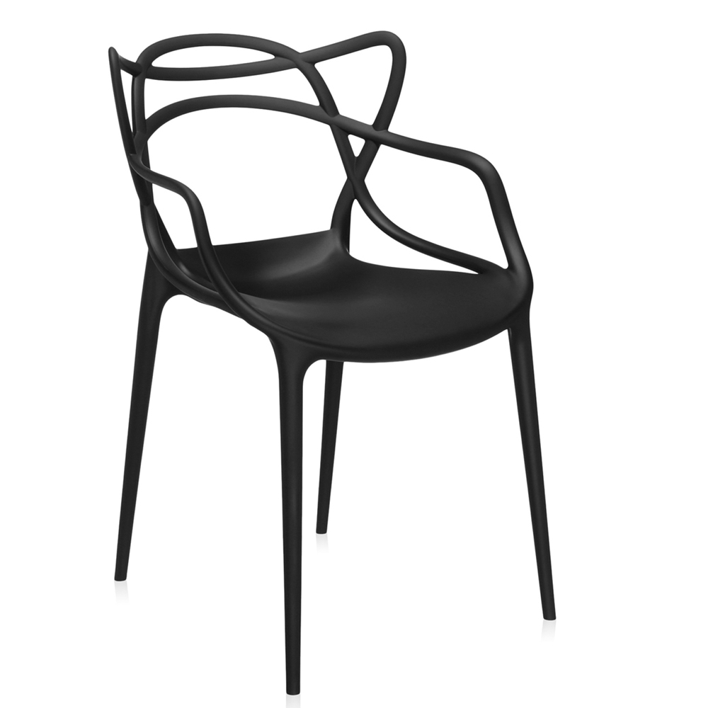 kartell masters schwarz stuhl philippe starck design kunststoff. Black Bedroom Furniture Sets. Home Design Ideas