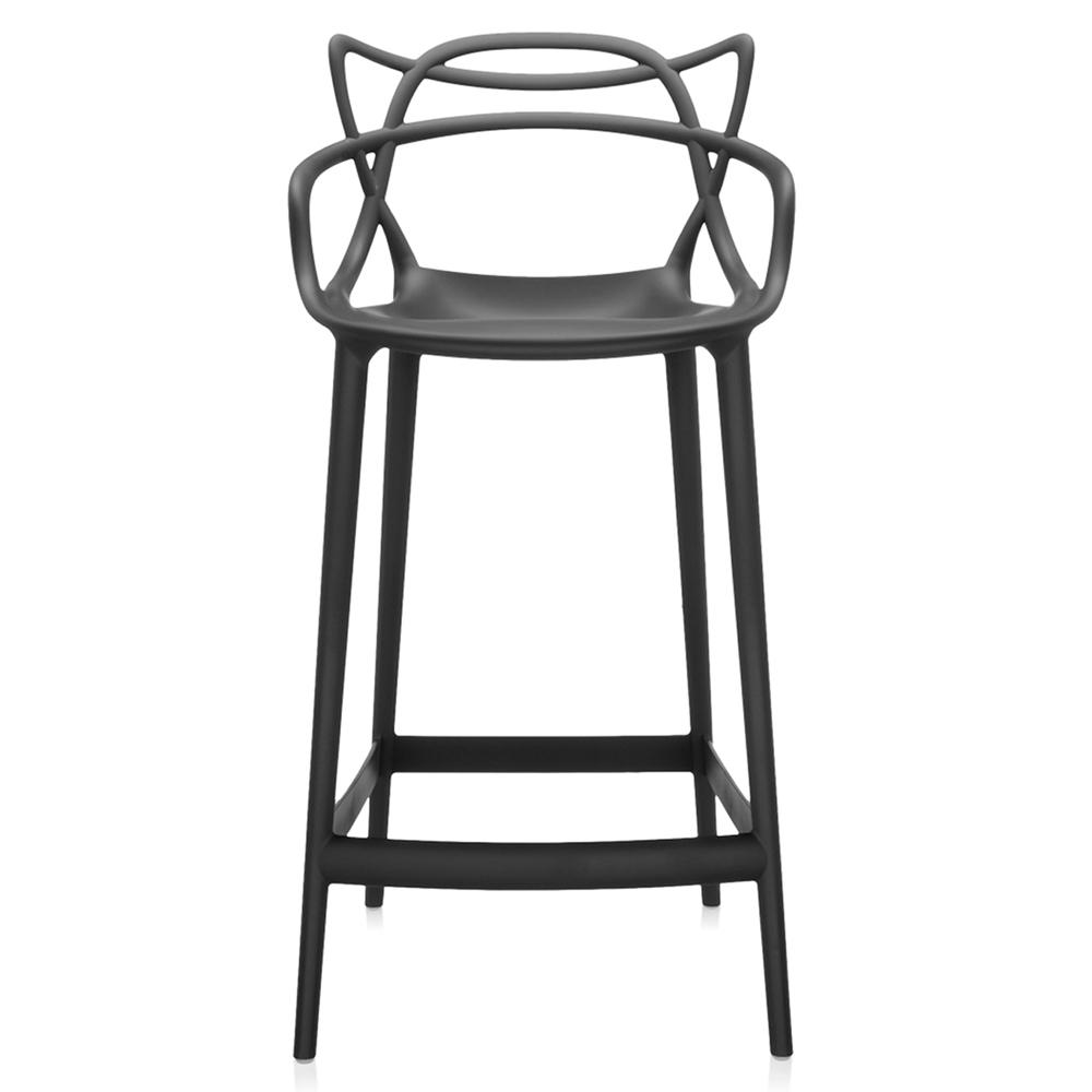 kartell masters stool barhocker schwarz sitzh he 75 cm. Black Bedroom Furniture Sets. Home Design Ideas