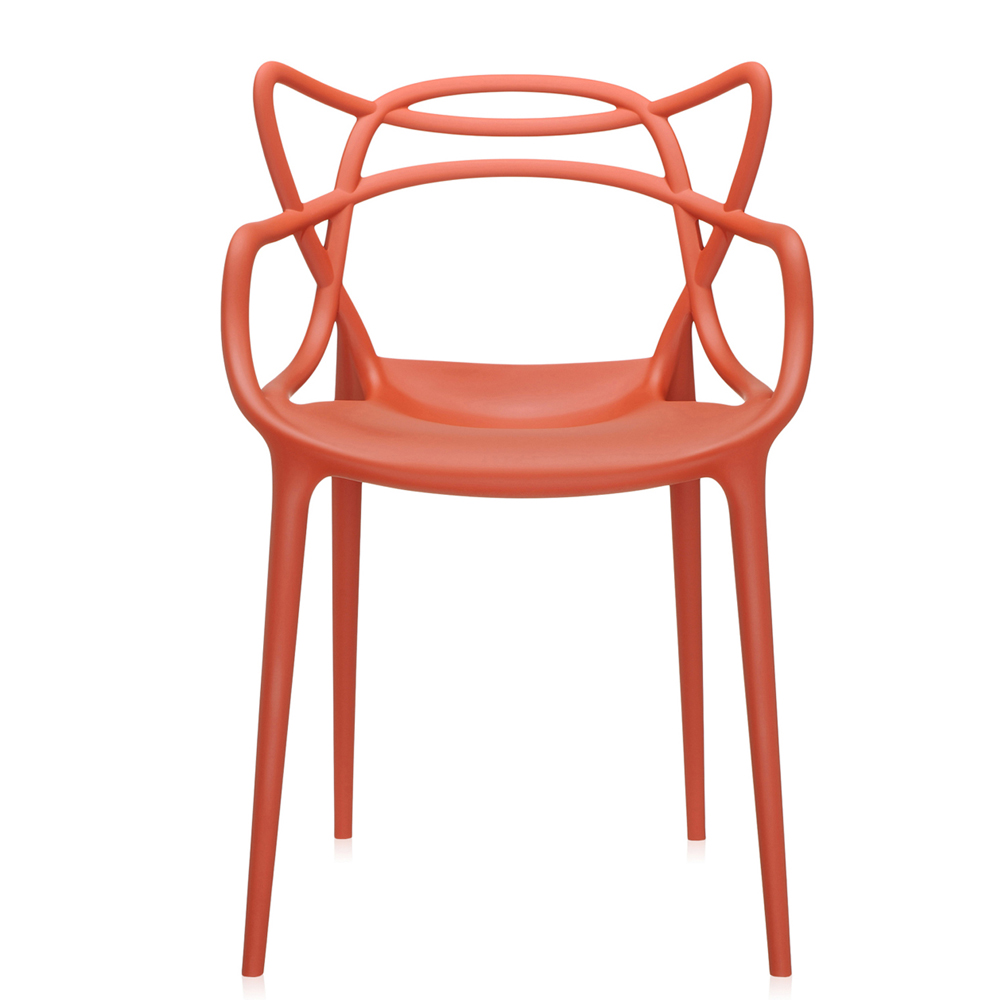 kartell masters rostbraun stuhl rot philippe starck polypropylen. Black Bedroom Furniture Sets. Home Design Ideas