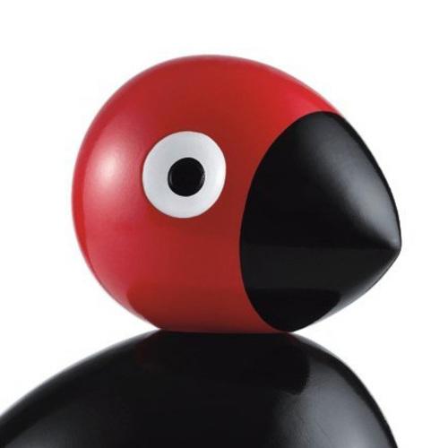 Bojesen Vogel bojesen singvogel holzfigur dekovogel buche schwarz rot 39404