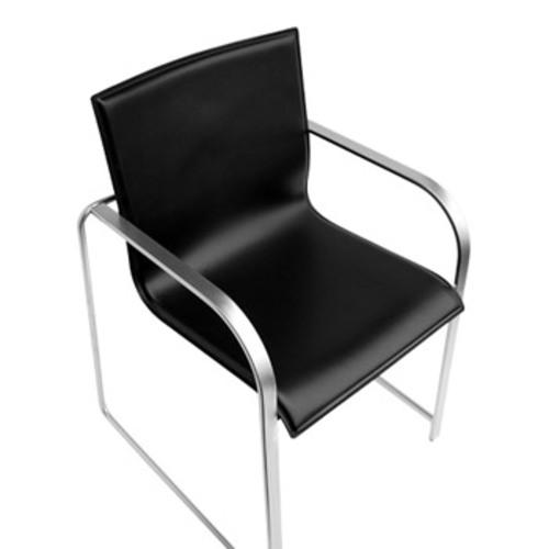 Lapalma manta lederstuhl polsterstuhl design romano marcato schwarz - Lederstuhl design ...