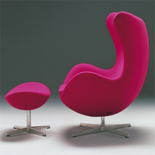 The Egg Chair / Das Ei Fußhocker auf Sternfuß [Modell 3127] - Fritz Hansen - Arne Jacobsen
