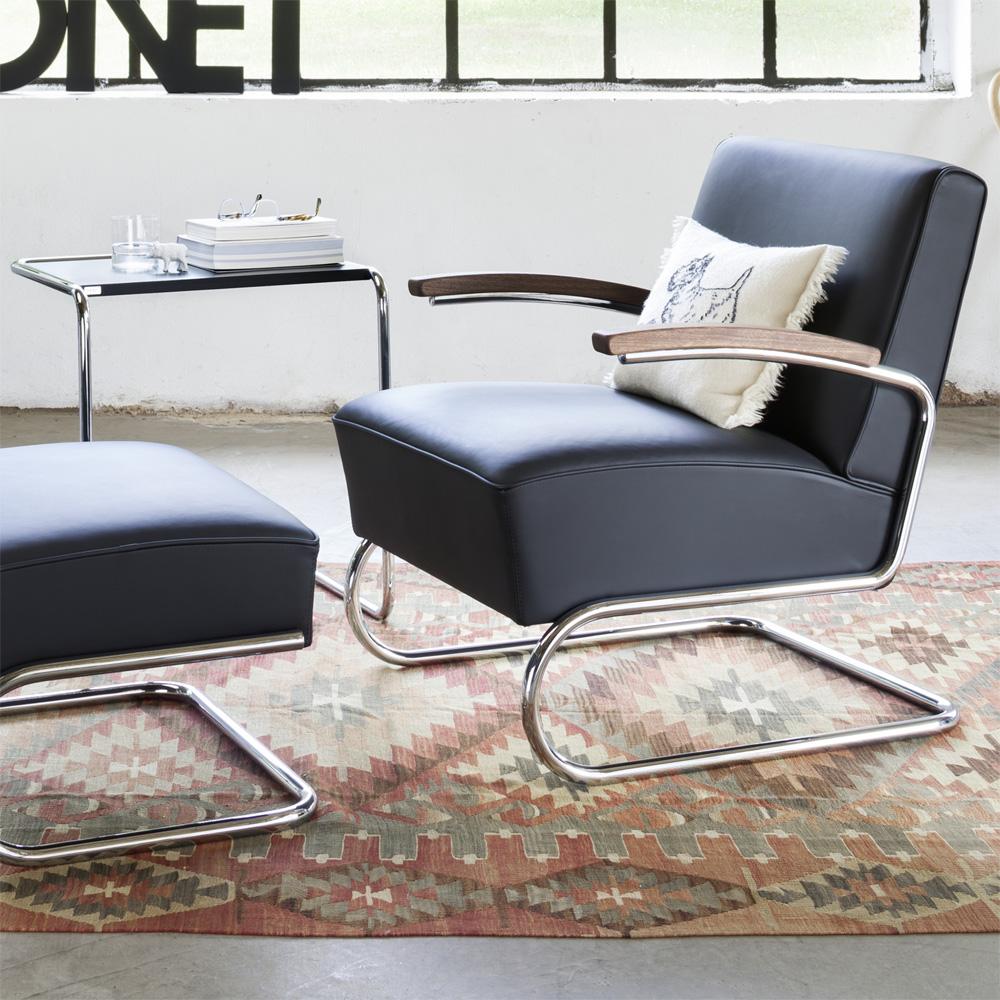 thonet b 97 a beistelltisch schwarz gebeizt satztisch bauhaus breuer. Black Bedroom Furniture Sets. Home Design Ideas