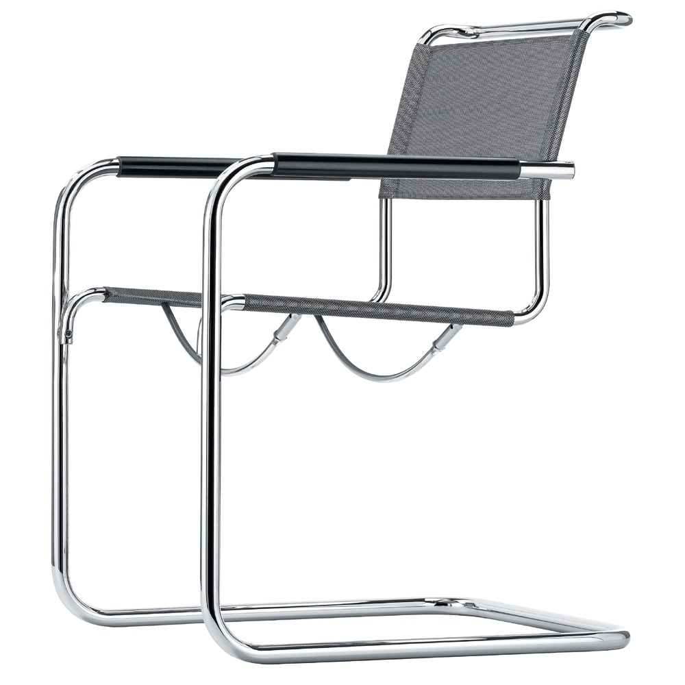 freischwinger stuhl st hle thonet stahlrohr bauhaus sessel breuer leder. Black Bedroom Furniture Sets. Home Design Ideas