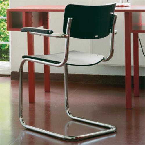 thonet s 43 f freischwinger armlehnen stahlrohrstuhl. Black Bedroom Furniture Sets. Home Design Ideas