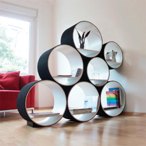 Flexi tube regal ki kalt designs doris ki kalt regalsystem aus runden elementen wohnzimmerregal - Estanterias originales de pared ...