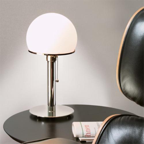 wagenfeld wa 24 tecnolumen tischleuchte bauhaus metallfu tischlampe. Black Bedroom Furniture Sets. Home Design Ideas