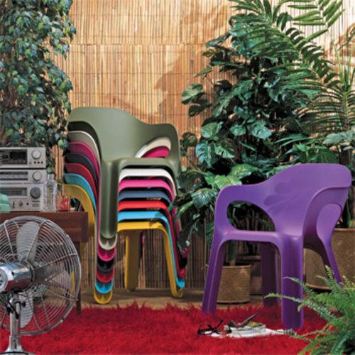 Magis Easy Chair Stuhl Kunststoffstuhl Plastikstuhl Gartenstuhl Seymour
