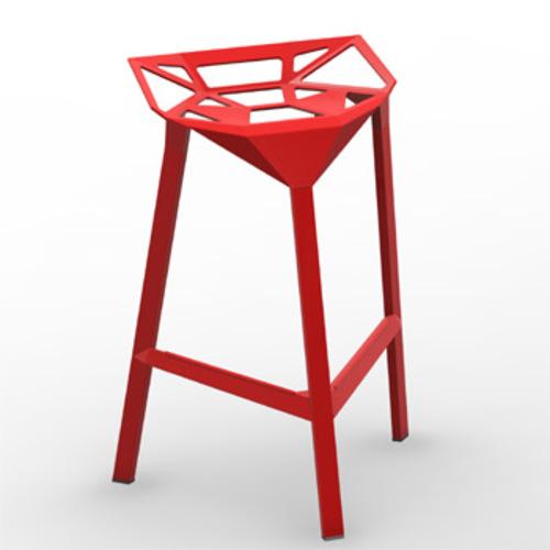 Magis stool one barhocker sitzhocker designhocker for Barhocker aluminium