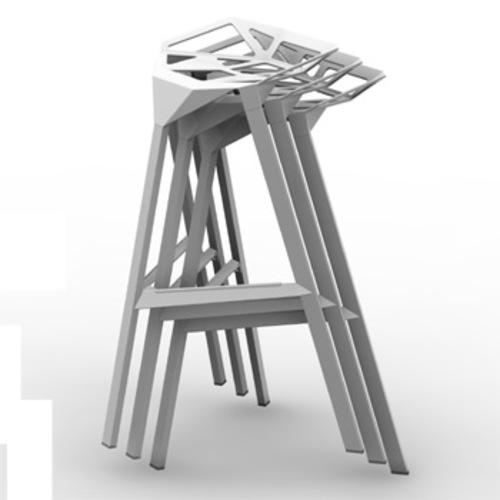 Magis stool one barhocker sitzhocker designhocker for Barhocker stapelbar