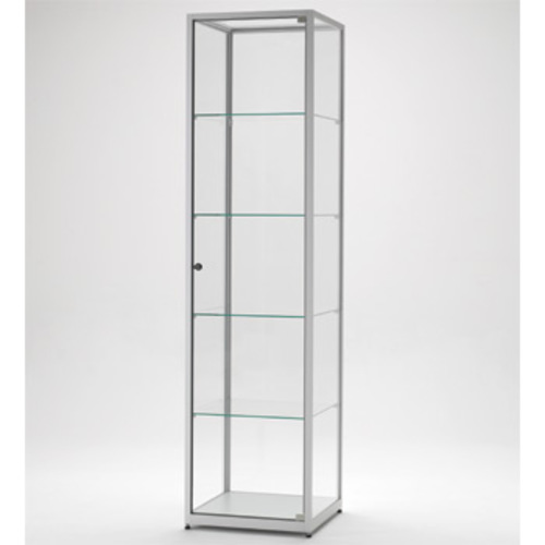 vitrine glasvitrine aluminium stahl b chervitrinen m bel museum tv. Black Bedroom Furniture Sets. Home Design Ideas