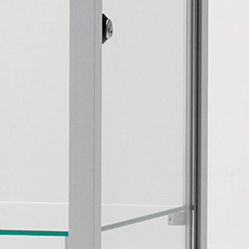 SDB VA Serie Glasvitrine Büro Sammelvitrine Schloss Aluminium Hartglas