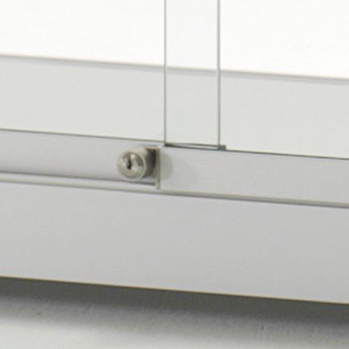 sdb maxime 100 glasvitrine schiebet r aluminium schloss. Black Bedroom Furniture Sets. Home Design Ideas