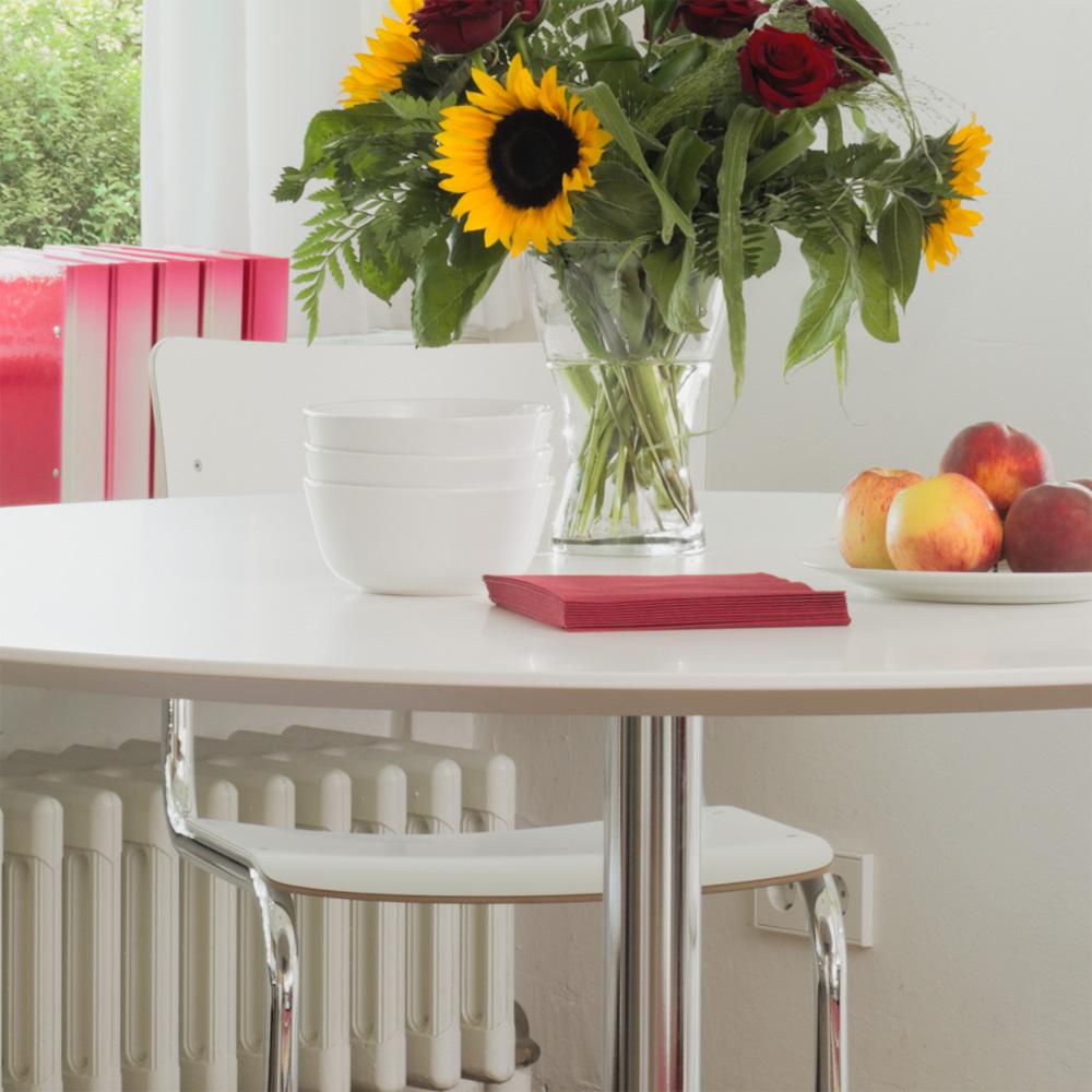 Esstisch Thonet ~ Thonet A 1660 Tisch Decklackiert Weiß Durchmesser 120 cm James Irvine