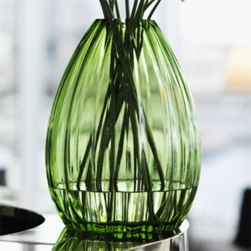 Holmegaard 2lips Vase Grün 34 Cm Tischvase Glas Design Maria Kariis