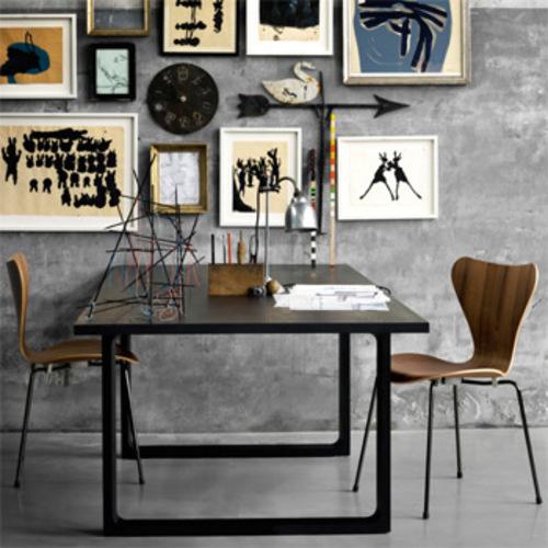 3107 Holz Fritz Hansen Arne Jacobsen Serie 7 Stahlrohrstuhl Designstuhl