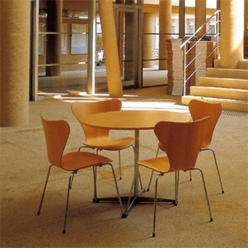 3107 holz fritz hansen arne jacobsen serie 7 stahlrohrstuhl designstuhl. Black Bedroom Furniture Sets. Home Design Ideas