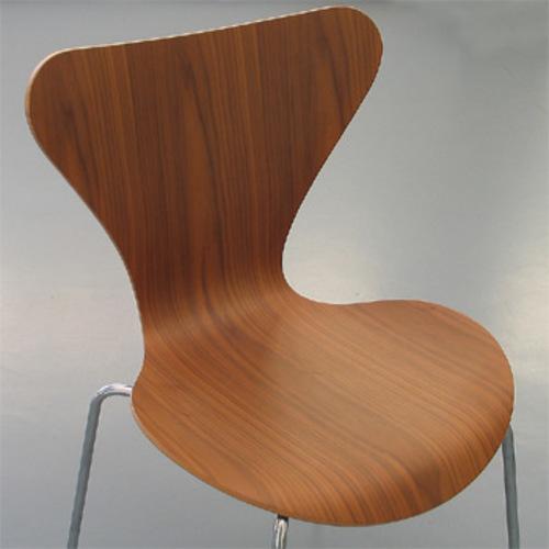 3107 holz fritz hansen arne jacobsen serie 7 stahlrohrstuhl designstuhl - Arne jacobsen ameise stuhl ...
