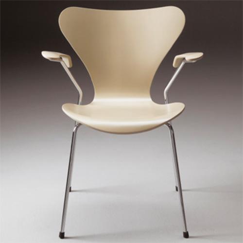 Arne Jacobsen 3207 Armlehne Lackiert Stuhl Fritz Hansen Serie 7 Design