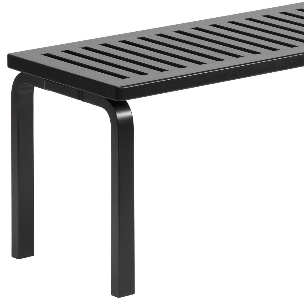 artek 153a bank bench alvar aalto birke lackiert schwarz. Black Bedroom Furniture Sets. Home Design Ideas