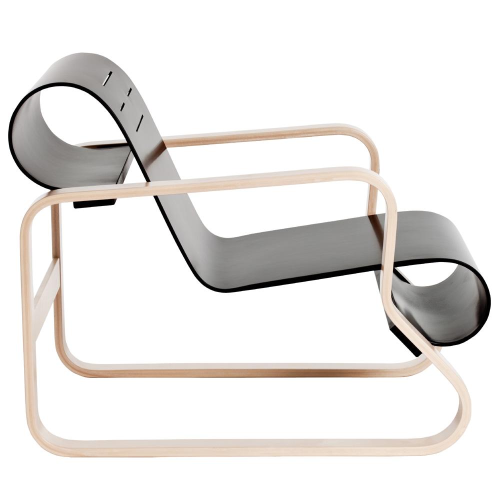artek 41 paimio sessel alvar aalto lounge birke sitzschale schwarz. Black Bedroom Furniture Sets. Home Design Ideas