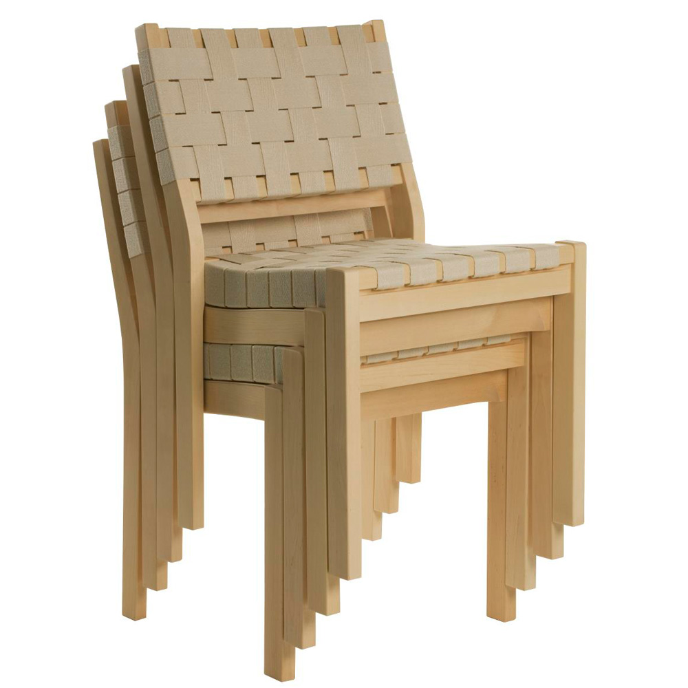 artek 611 stuhl leinengurte natur alvar aalto holzstuhl geflochten. Black Bedroom Furniture Sets. Home Design Ideas