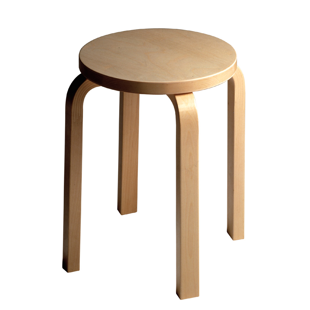artek hocker e60 stool 4 beine birke natur alvar aalto stapelbar holz. Black Bedroom Furniture Sets. Home Design Ideas