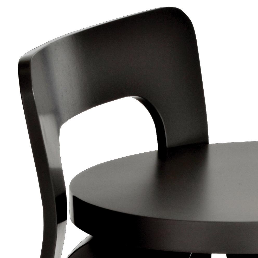 artek k65 k chenstuhl barhocker schwarz lackiert birke alvar aalto. Black Bedroom Furniture Sets. Home Design Ideas
