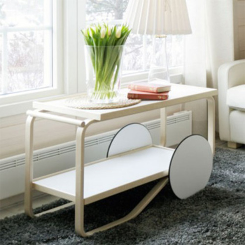 artek servierwagen 901 wei alvar aalto tea trolley birkenholz r der. Black Bedroom Furniture Sets. Home Design Ideas