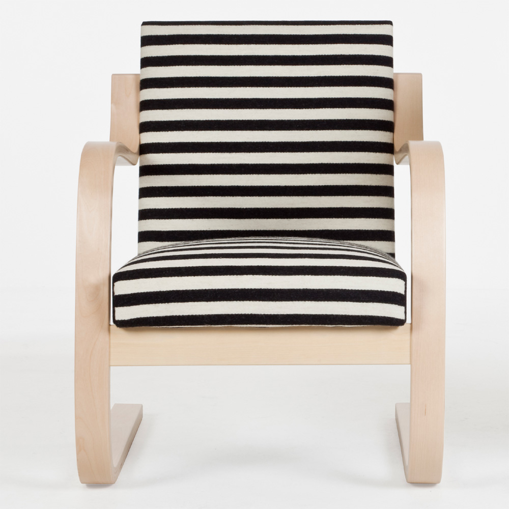 artek sessel 402 chair zebra alvar aalto schwarz wei muster design. Black Bedroom Furniture Sets. Home Design Ideas