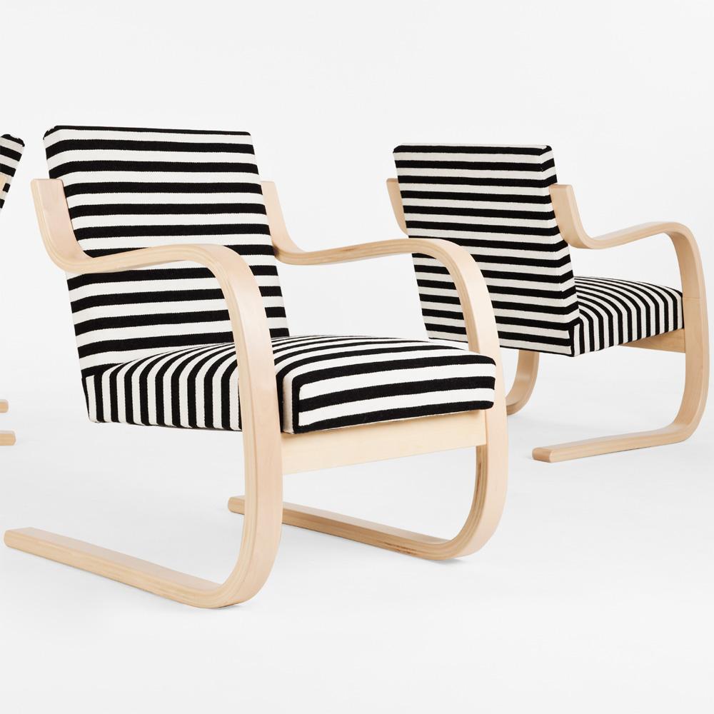 Artek Sessel 402 Chair Zebra Alvar Aalto Schwarz Weiß