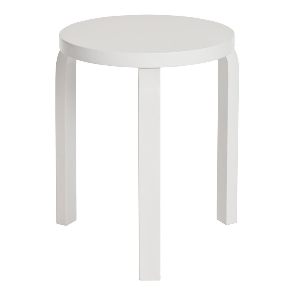Artek stool 60 hocker alvar aalto 3 beine birke natur for Holzhocker stapelbar