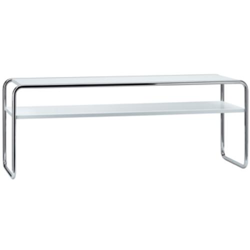 thonet b 10 1 tisch fachboden wei lackiert couchtisch. Black Bedroom Furniture Sets. Home Design Ideas