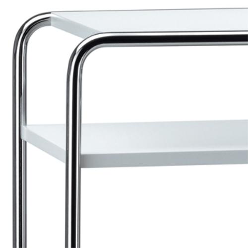 thonet b 9d 1 beistelltisch wei couchtisch fachboden. Black Bedroom Furniture Sets. Home Design Ideas