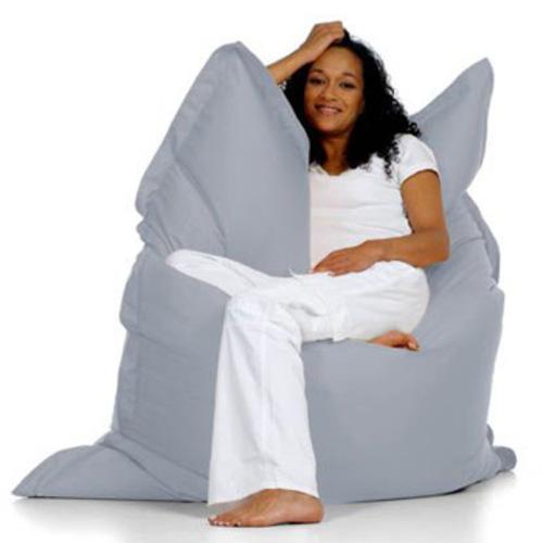 sitting bull sitzsack silbergrau grey sitzkissen bodenkissen xxl. Black Bedroom Furniture Sets. Home Design Ideas