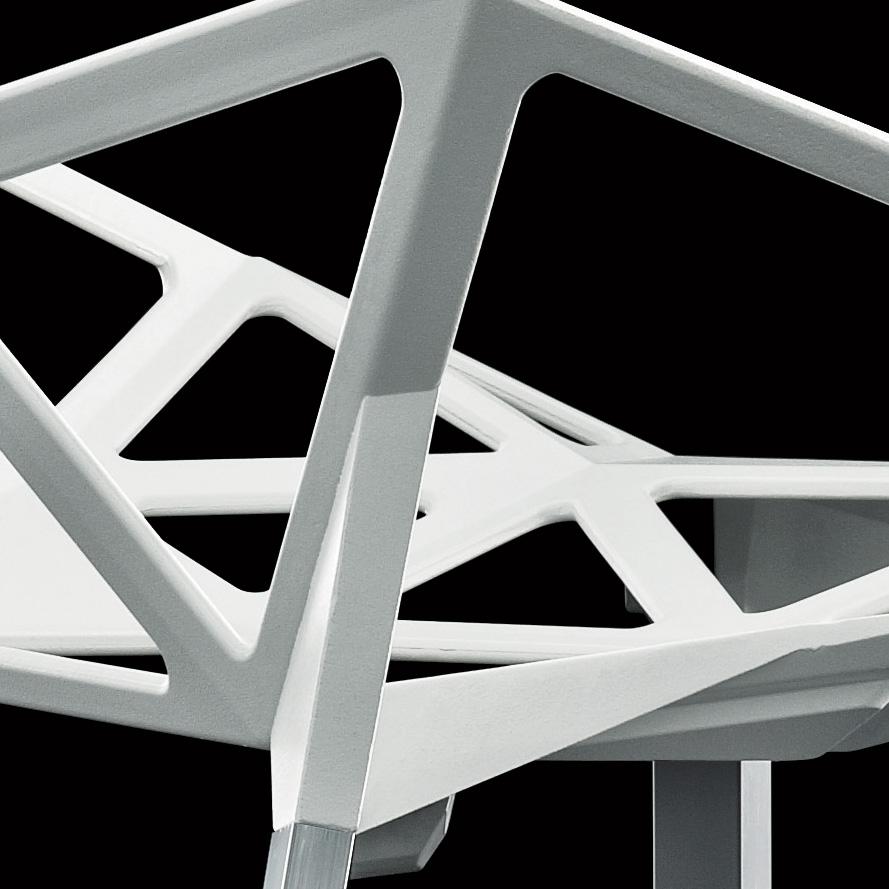magis chair one 4 beine wei stapelbar konstantin grcic aluminium lack. Black Bedroom Furniture Sets. Home Design Ideas