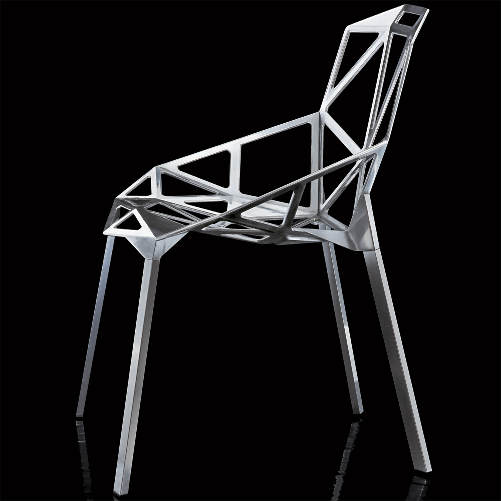 magis chair one poliert aluminium konstantin grcic vier beine aluminium. Black Bedroom Furniture Sets. Home Design Ideas