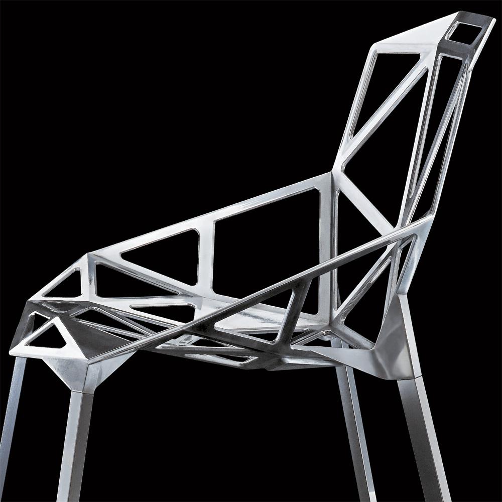 Magis chair one poliert aluminium konstantin grcic vier for Grcic stuhl
