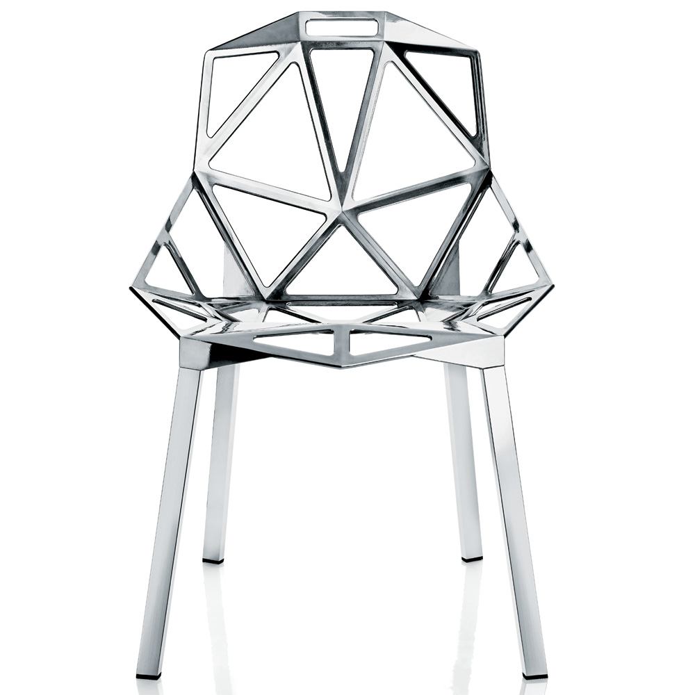 magis chair one poliert aluminium konstantin grcic vier beine aluminium. Black Bedroom Furniture Sets. Home Design Ideas