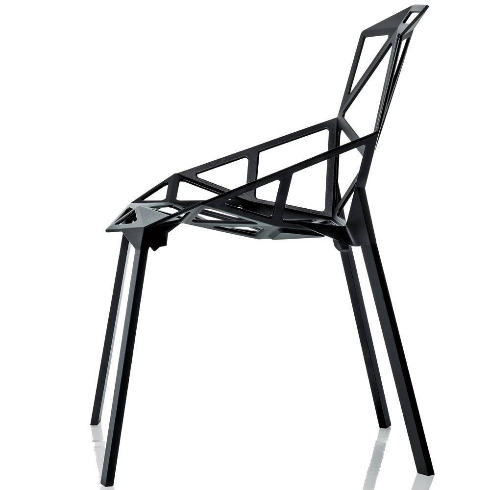 Magis chair one stuhl schwarz eloxiert 4 beine konstantin for Grcic stuhl