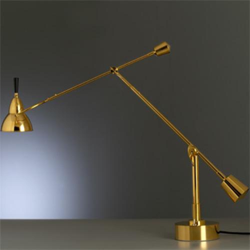 eb 27 gold tecnolumen vergoldete tischleuchte 24 karat eduard wilfried buquet. Black Bedroom Furniture Sets. Home Design Ideas