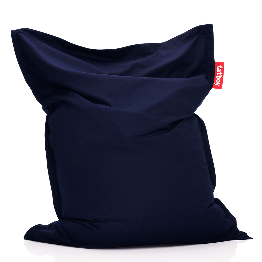 fatboy outdoor navyblue blau sitzsack garten bodenkissen sitzkissen. Black Bedroom Furniture Sets. Home Design Ideas