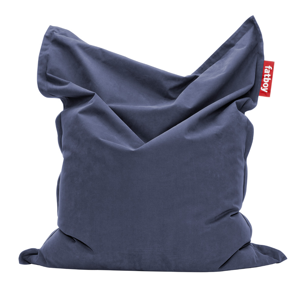 fatboy stonewashed blau sitzsack the original blue. Black Bedroom Furniture Sets. Home Design Ideas