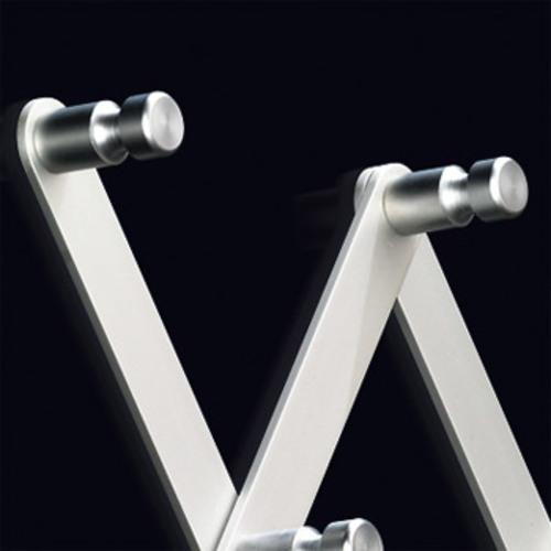 pieperconcept flex garderobe silber wandgarderobe aluminium design. Black Bedroom Furniture Sets. Home Design Ideas