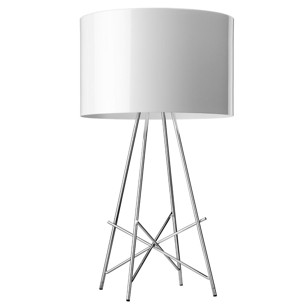 flos ray t tischleuchte wei rodolfo dordoni schreibtischleuchte design. Black Bedroom Furniture Sets. Home Design Ideas