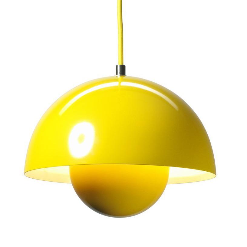 Pendelleuchte Gelb flowerpot vp2 gelb pendelleuchte groß tradition verner panton 207621